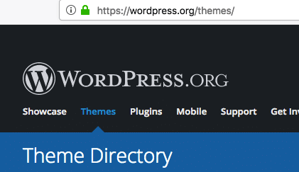 Wordpress themes official directory