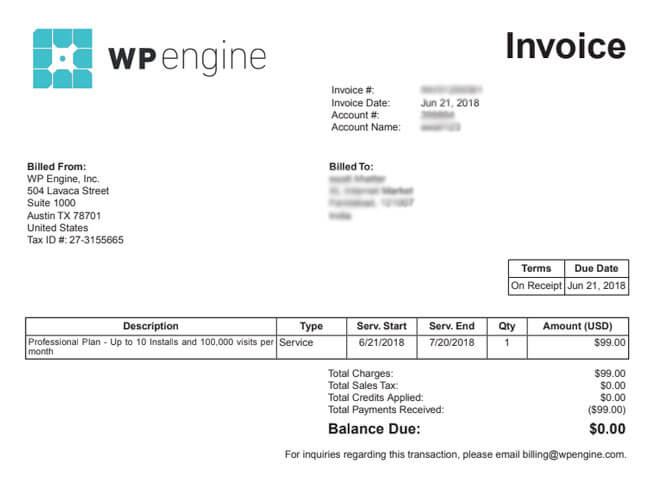 WpEngine-bill-invoice